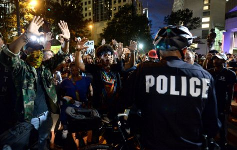 One person shot in Charlotte protest, officer injured