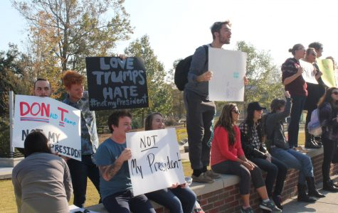 Peaceful Trump protest takes place on UNCW campus