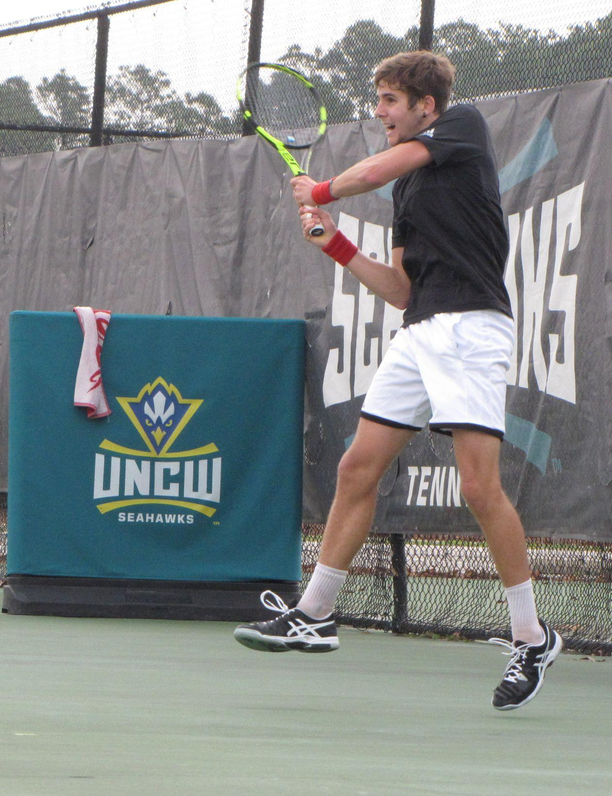 UNCW freshman Ignasi de Rueda has won 8 of 11 singles matches this spring.