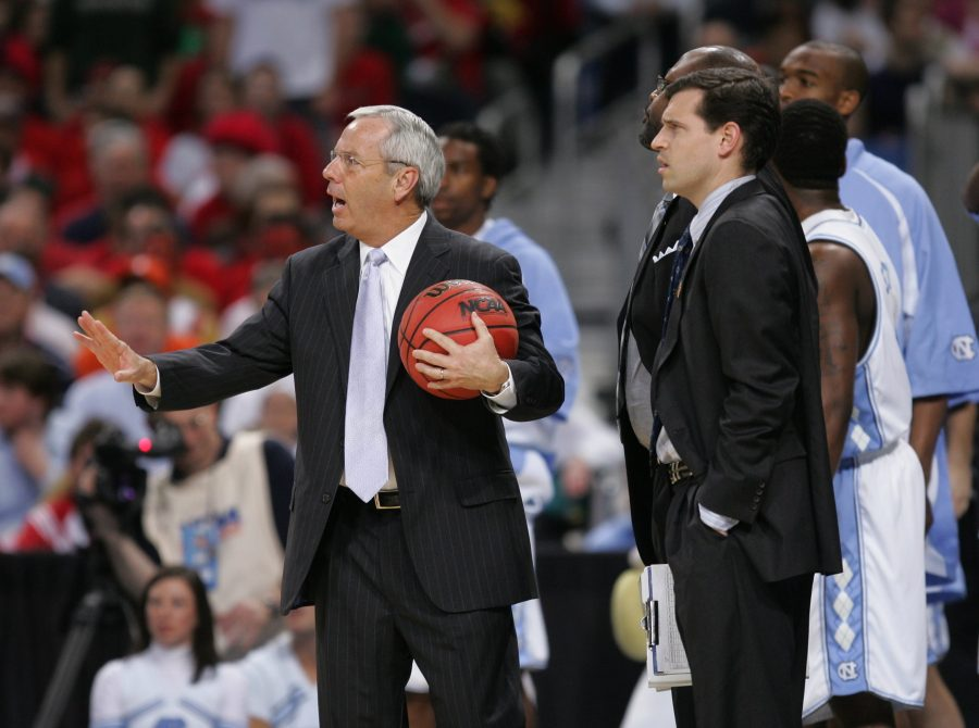 %28April+2%29+ST.+LOUIS%2C+MO+-+North+Carolina+head+coach+Roy+Williams%2C+left+and+assistant+coach+C.B.+McGrath+watch+as+referees+break+up+an+altercation+between+Michigan+State+and+North+Carolina+during+the+first+half+in+the+semifinal+game+of+the+Men%27s+NCAA+Final+Four+basketball+tournament+in+St.+Louis%2C+Missouri%2C+Saturday%2C+April+2%2C+2005.+%28lde%29+2005