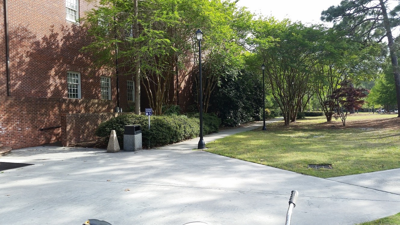 The sidewalks between Cameron and Dobo halls are where the assault took place around 3 p.m. on April 18.