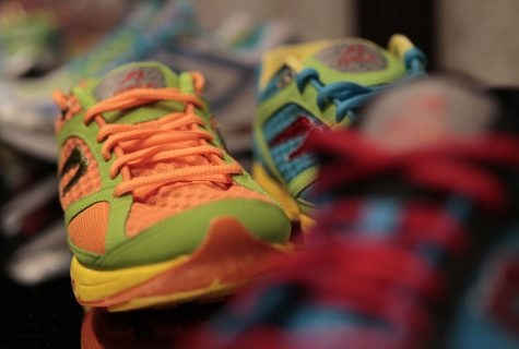 Newton running shoes are displayed in the shoe department at Deka, a women's activewear store in Chicago, Illinois, on September 28, 2012. (Chris Walker/Chicago Tribune/MCT)