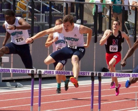 UNCW hurdlers compete during the Bill Carson Invitational earlier this month.