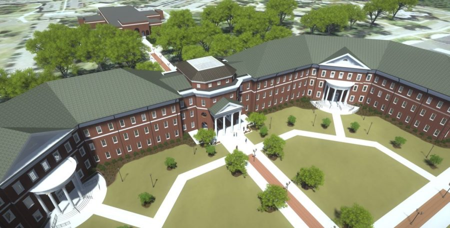 An artists rendering of what the university plans for the building to look like.