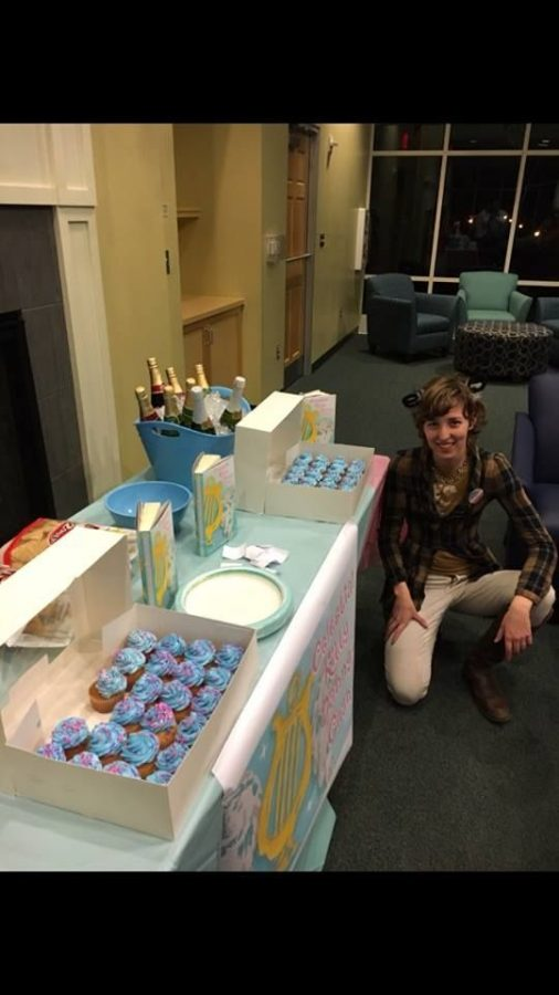 Tess Duck hosted a release party for her debut novel on Friday, April 1 in the Clock Tower Lounge at UNCW.