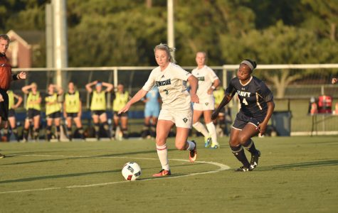 Women's soccer ties visiting Midshipmen