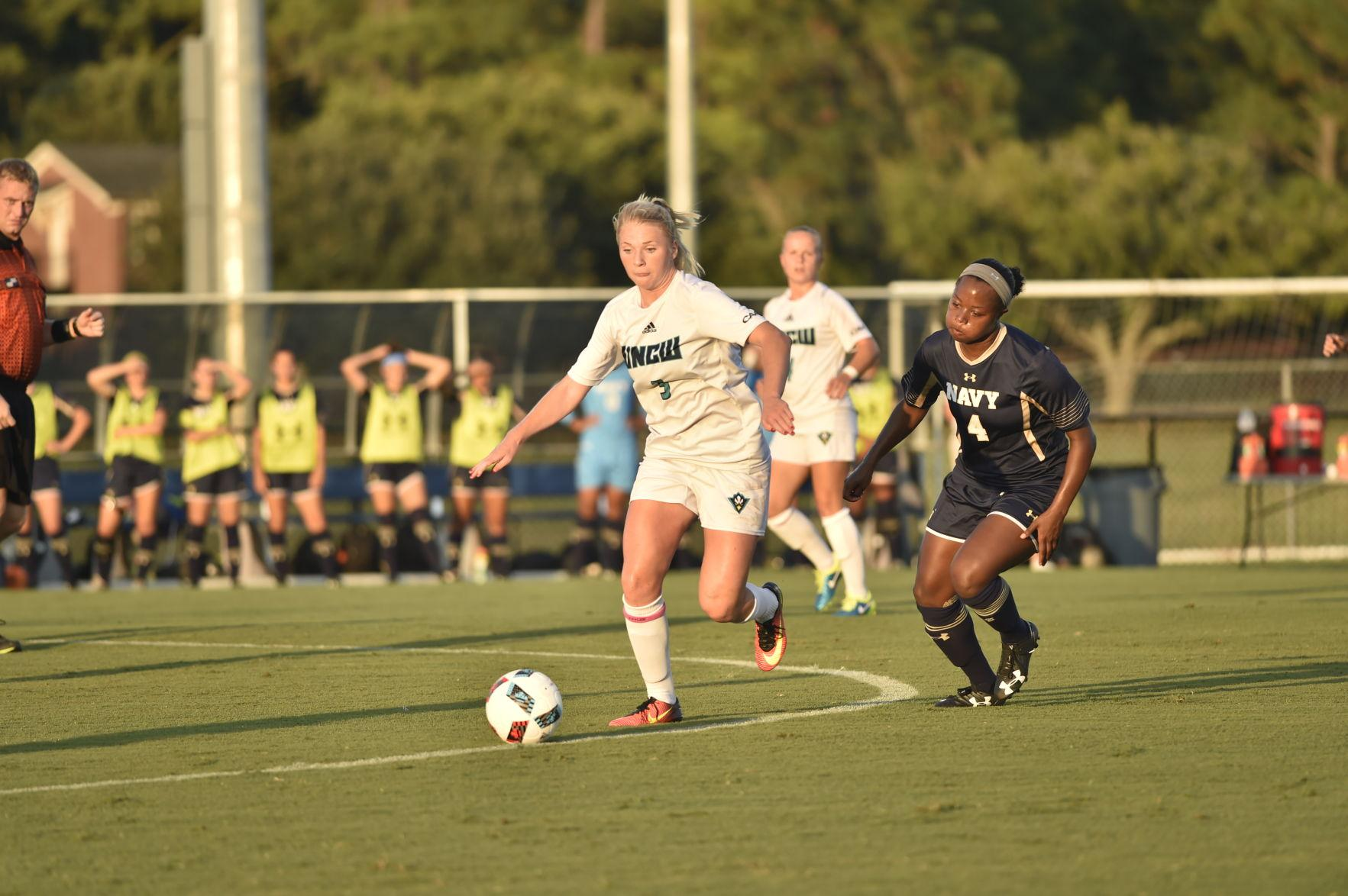 Mao Jarl, 5, scored the first goal of her senior campaign Friday in a 2-2 draw against Navy.