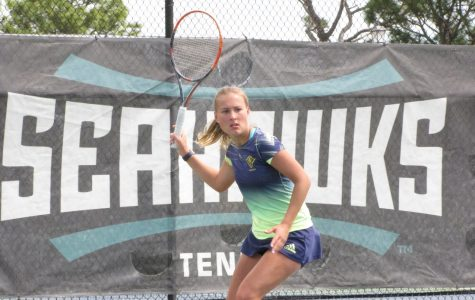 Women's tennis drops two of three at home