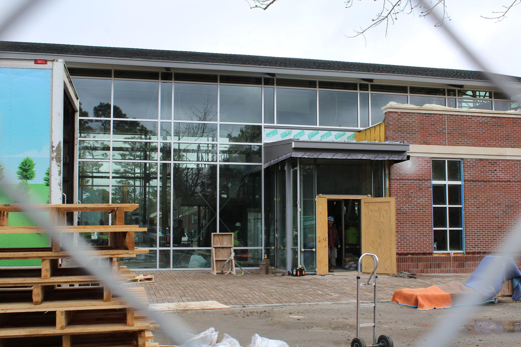 The Hub dining hall is currently under construction and is set to be complete this year.