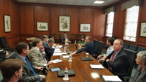 UNCW Board of Trustees meets just before confirming C.B. McGrath as UNCW's men's basketball coach.