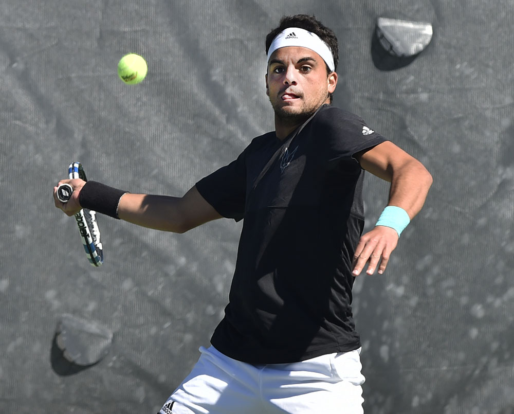Agustin Savarino, a sophomore from Argentina, clinched the CAA title for UNCW on Sunday, April 23.