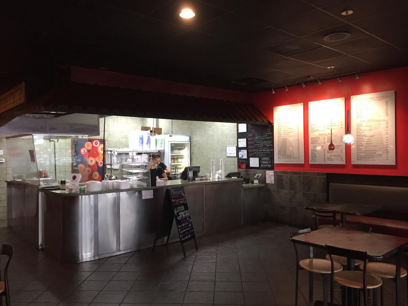 Hibachi Bistro, photographed above, is one of the places listed as a great stop for hungry students.