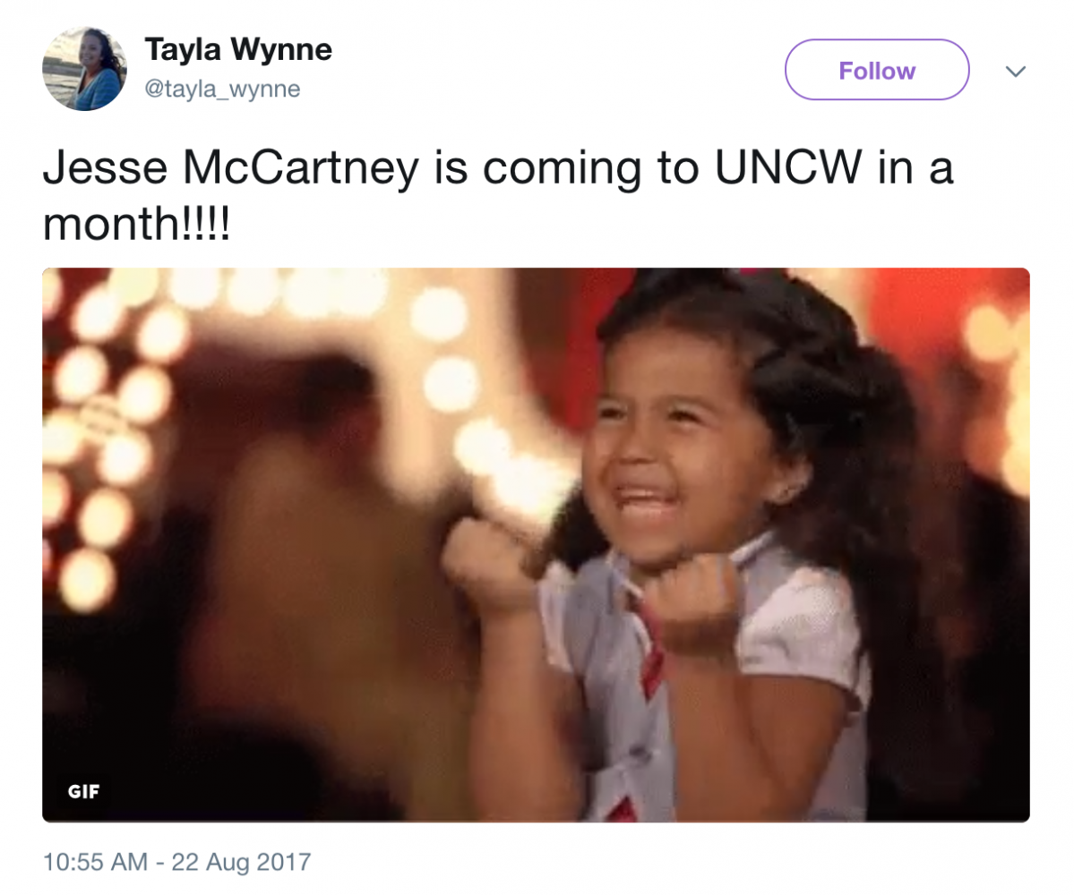 ACE to bring Jesse McCartney to UNCW