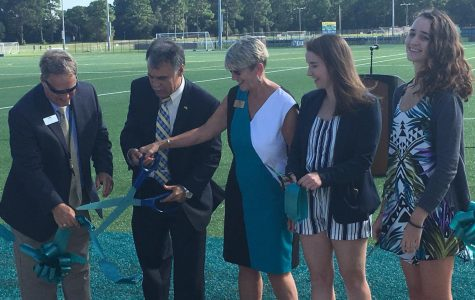 Students, faculty gather for grand opening of recreational fields