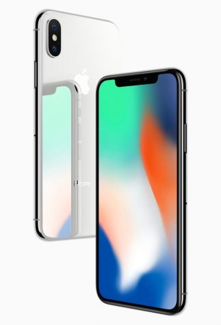 The iPhone X, an all-glass design with a 5.8-inch Super Retina display.  Courtesy of Tribune News Service.