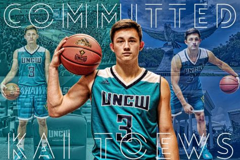 Kai Toews posted this graphic to his Twitter profile on Monday, Sept. 25 to confirm his verbal commitment to UNCW basketball.