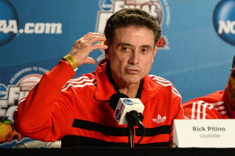 Rick Pitino, head coach of the Louisville Cardinal men's basketball team. (WikiMedia Commons photo)