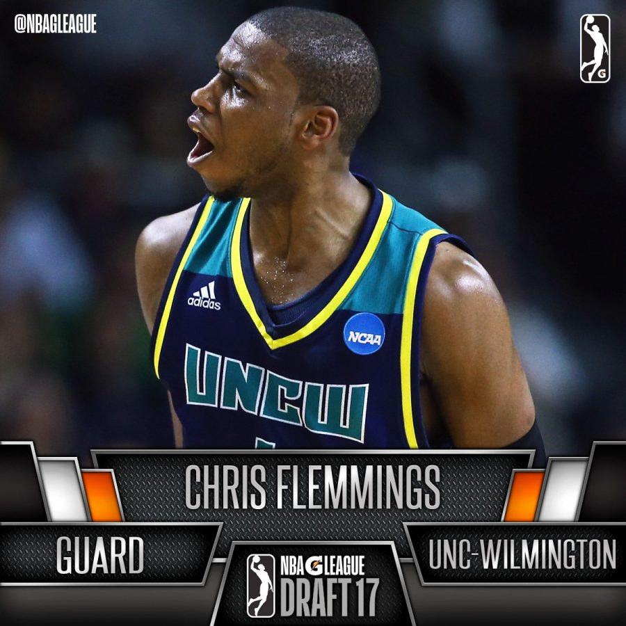 Chris Flemmings during his time with UNCW basketball. Flemmings led the Seahawks to back-to-back CAA championships in his two seasons at UNCW.