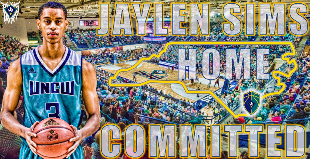Charlotte native Jaylen Sims announced his commitment to UNCW basketball earlier this week