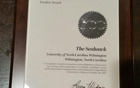 Letter from the editor: The Seahawk was named a 2017 Online Pacemaker Award finalist