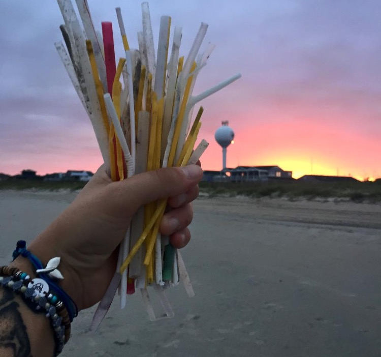 Used+straws+collected+during+a+beach+sweep.+Courtesy+of+UNCW+Plastic+Ocean+Project.