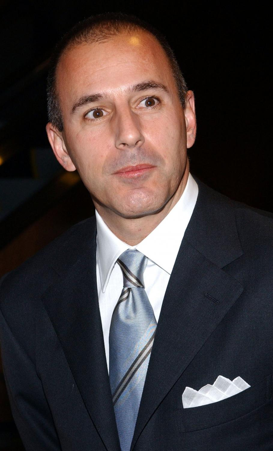 TV anchor Matt Lauer (NBC's Today show) is photographed as he arrives at the