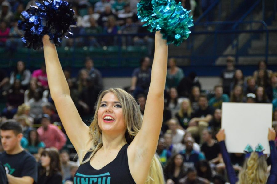 A member of the UNCW Dance Team