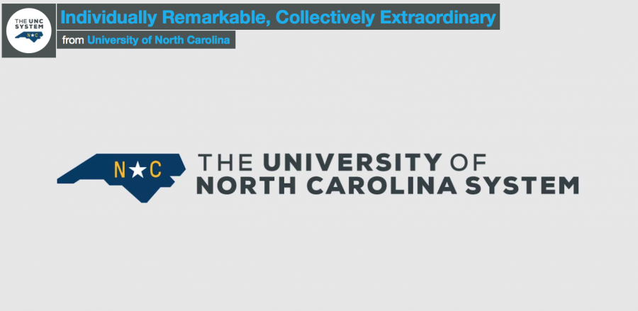New UNC system logo displayed in The Seahawk's informative video.
