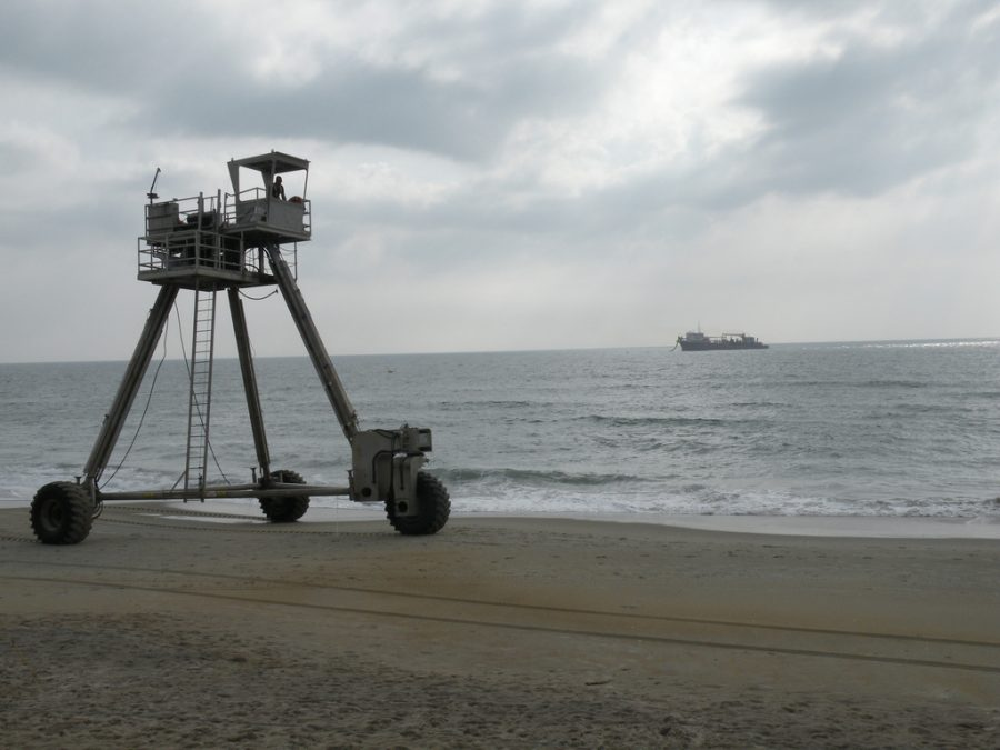 Beach nourishment ongoing along North Carolina's beaches