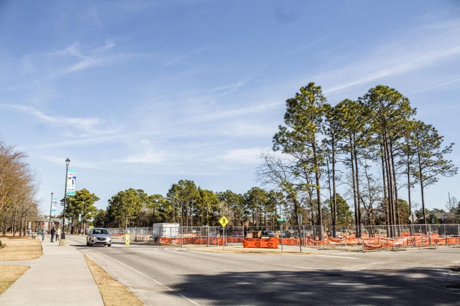 Construction site work is underway for the spring semester.