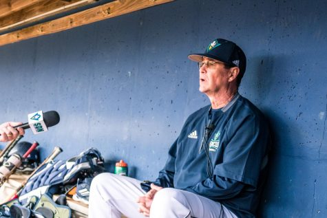 UNCW baseball coach Mark Scalf