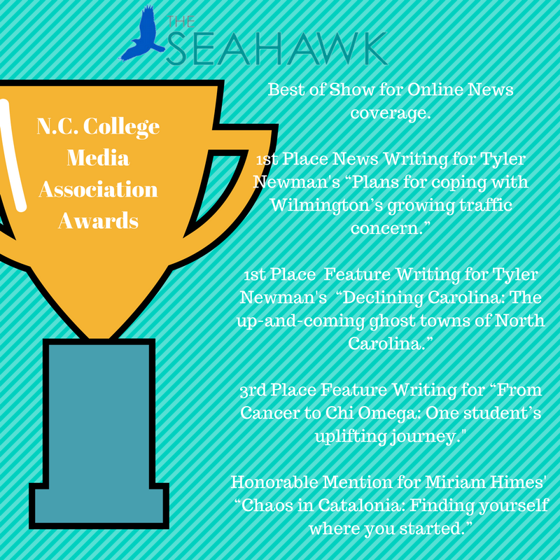 The Seahawk won four awards and one honorable mention at this year's NCCMA Awards.