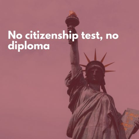 No citizenship test, no diploma