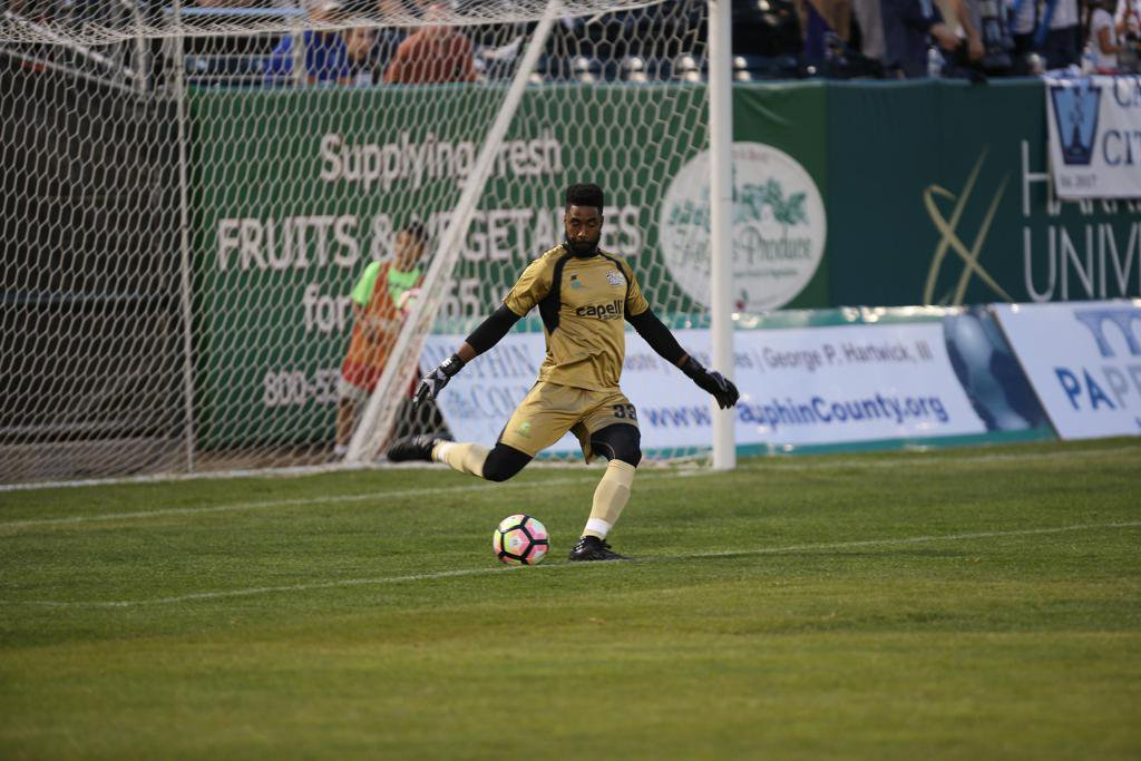 Brandon Miller as a member of the United Soccer League's Harrisburg City Islanders.
