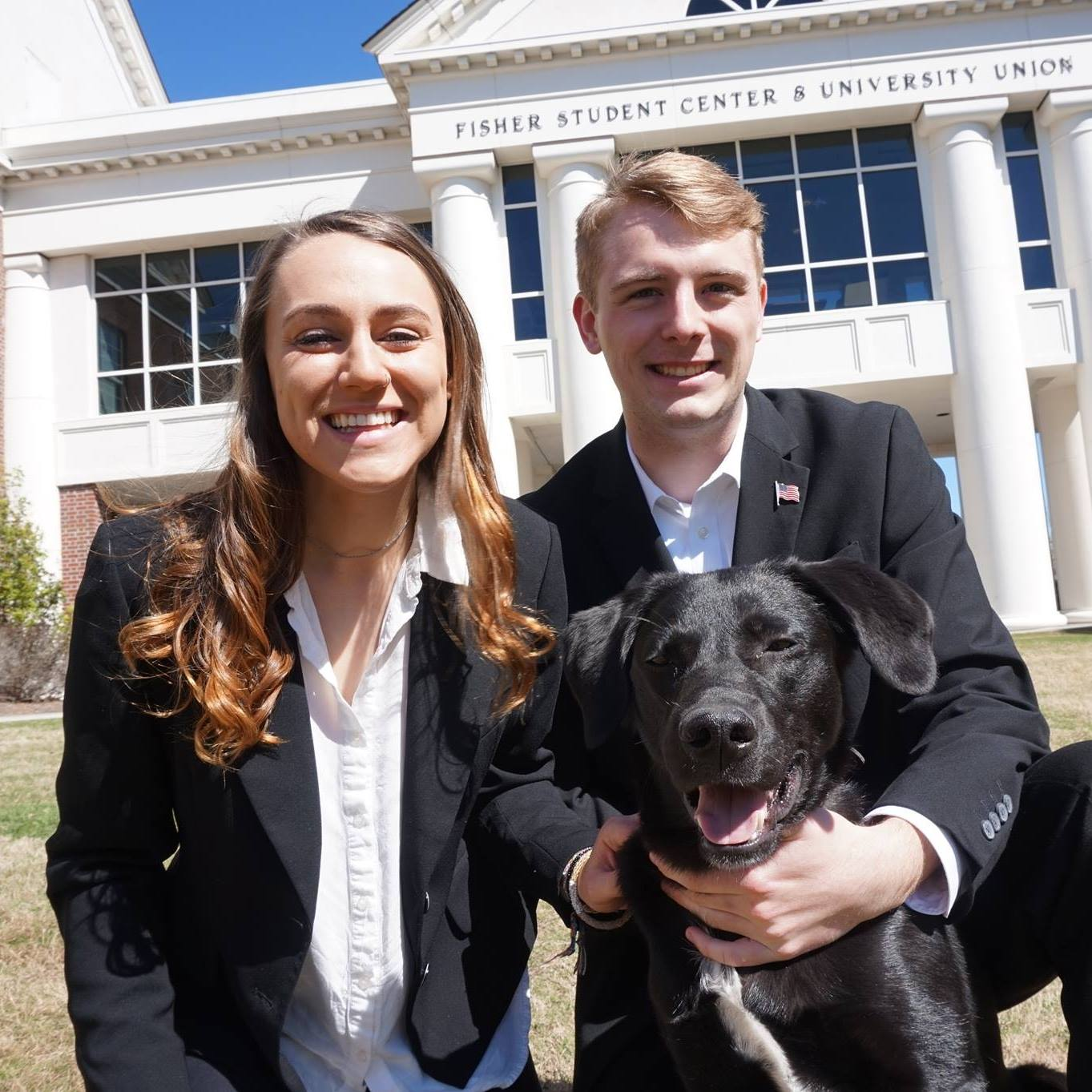 Tillet (right) and Brethen (left) have been elected next year's SGA preident and vice president.