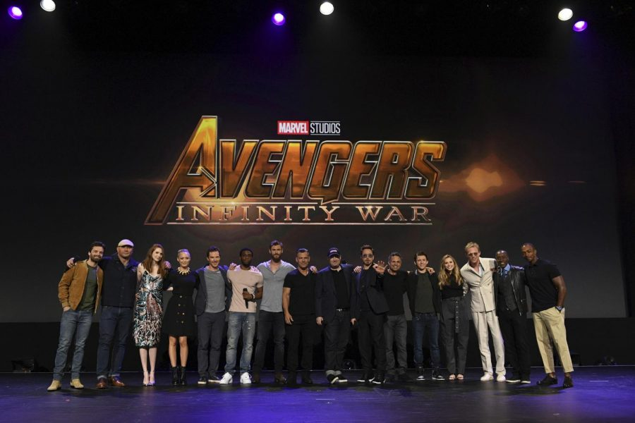 Half+of+the+cast+of+%22Avengers%3A+Infinity+War%22+poses+for+a+photo+at+the+D23+Expo+at+the+Anaheim+Convention+Center+on+July+15%2C+2017.+%0AFrom+left+to+right%3A+Sebastian+Stan%2C+Dave+Bautista%2C+Karen+Gillan%2C+Pom+Klementieff%2C+Benedict+Cumberbatch%2C+Chadwick+Boseman%2C+Chris+Hemsworth%2C+Josh+Brolin%2C+Kevin+Feige+%28President+of+Marvel+Studios%29%2C+Robert+Downey+Jr.%2C+Mark+Ruffalo%2C+Tom+Holland%2C+Elizabeth+Olsen%2C+Paul+Bettany%2C+Don+Cheadle%2C+Anthony+Mackie.+