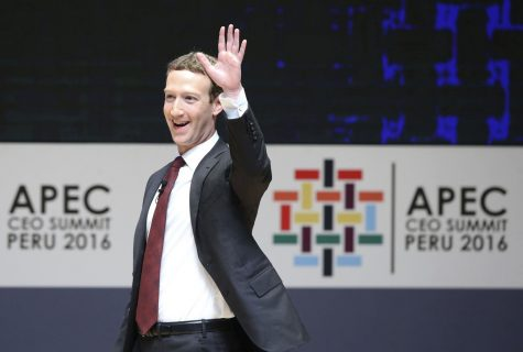 Founder and CEO of Facebook Mark Zuckerberg participates in the APEC CEO Summit on November 19, 2016, in Lima, Peru. A data mining firm's alleged misuse of Facebook user data is ballooning into one of the highest-profile crises that the social media giant has ever faced.