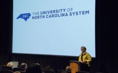 UNC System president applauds UNCW, seeks to set higher goals