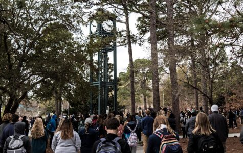 UNCW students walk out of class in solidarity with Parkland protest