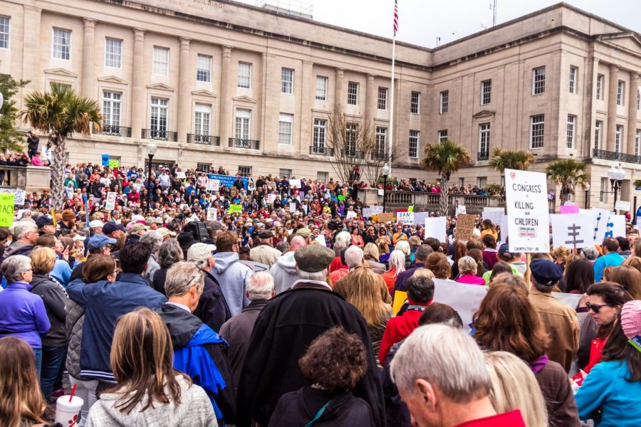Major areas of the March for our Lives protest in Downtown Wilmington saw protestors gather in front of the Alton Lennon Federal Building on North Water Street.