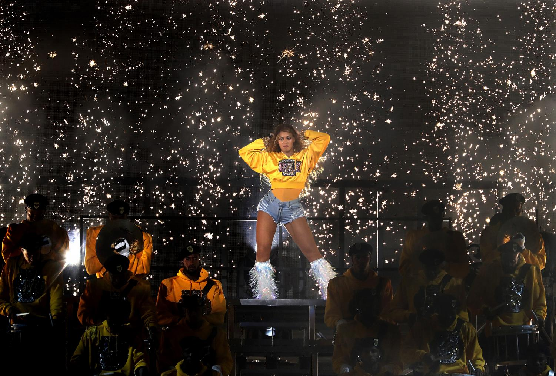 Beyoncé during her Coachella performance.
