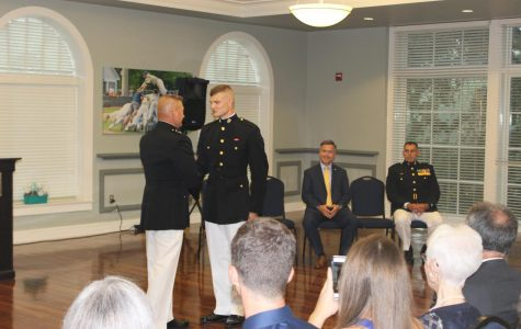 Recent UNCW graduate becomes first Commissioned Officer in school history