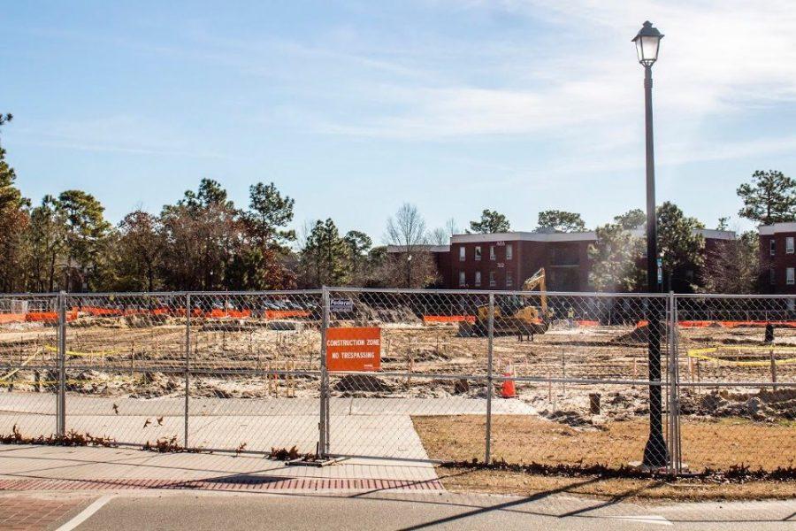 UNCW+parking+construction+