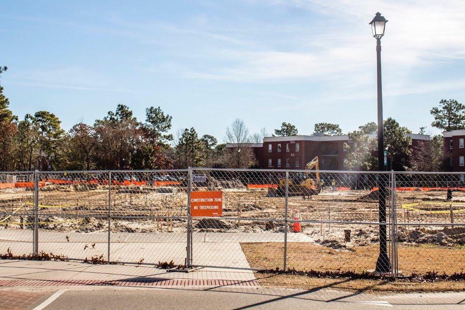 UNCW parking construction