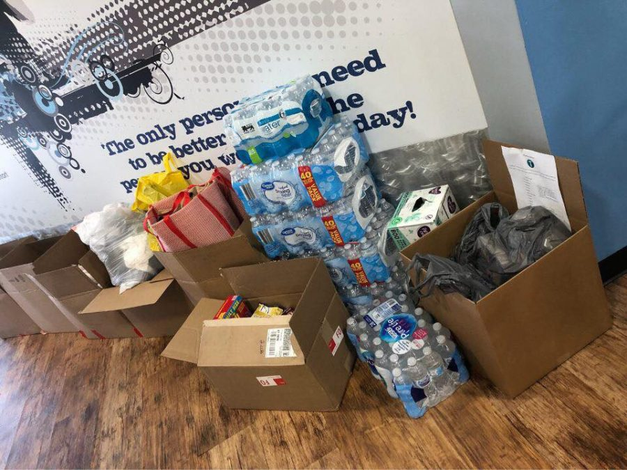 Supplies+and+donations+gathered+through+the+efforts+of+We+Wilm+Rebuild%2C+a+Hurricane+Florence+relief+project+started+by+UNCW+students.
