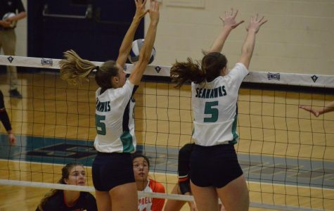 No. 15 Kendall Bender and no. 5 Madison Peters