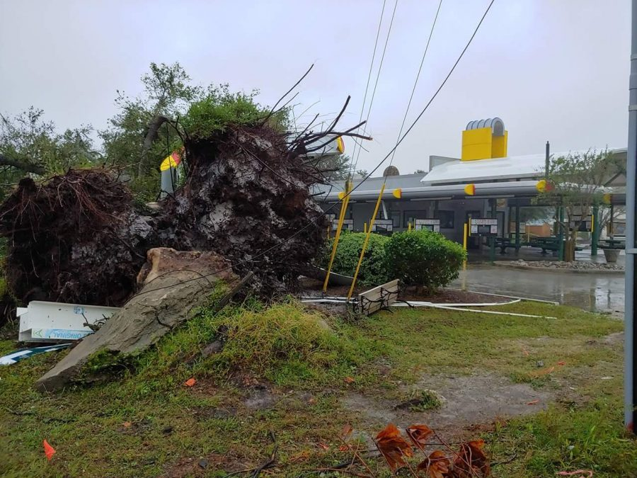 The+Sonic+Drive-In+on+Market+Street+suffered+damage+from+fallen+trees+in+the+form+of+a+collapsed+canopy+from+Hurricane+Florence.