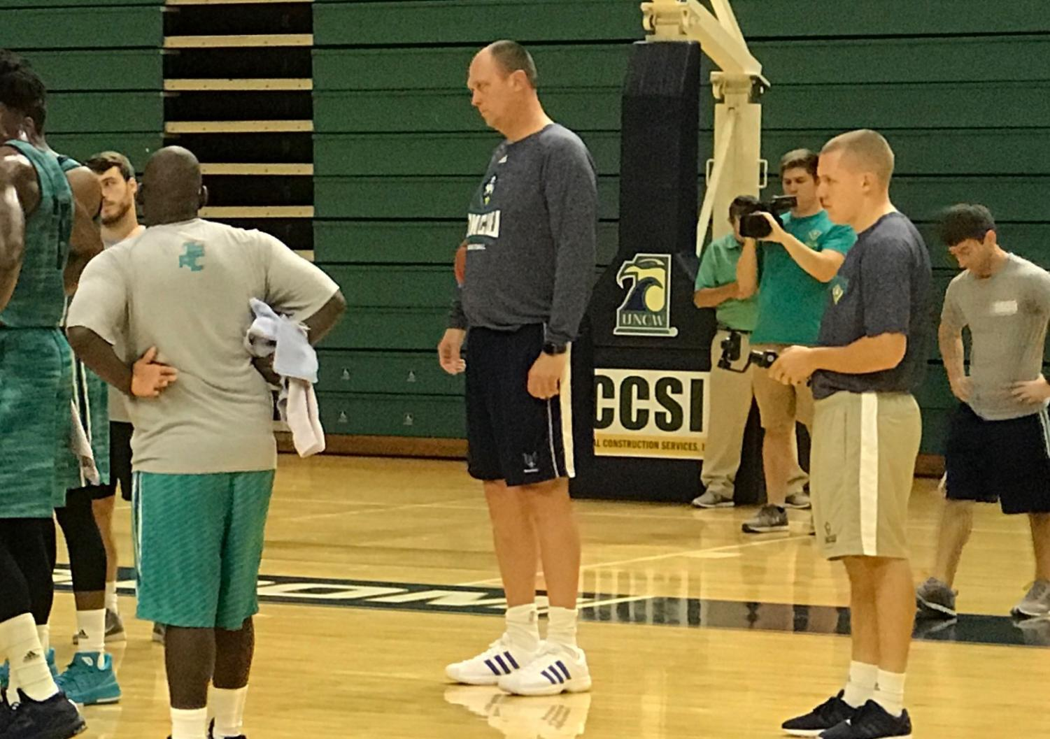 Joe Wolf at a UNCW practice