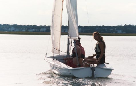 Will Floor (left) and Marite Felix (right) set out on the water to begin practice