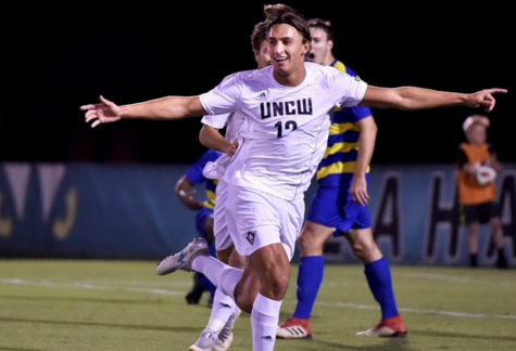 Defender Wilhelm Nilsson (12) during UNCW's 2-2 draw against Delaware